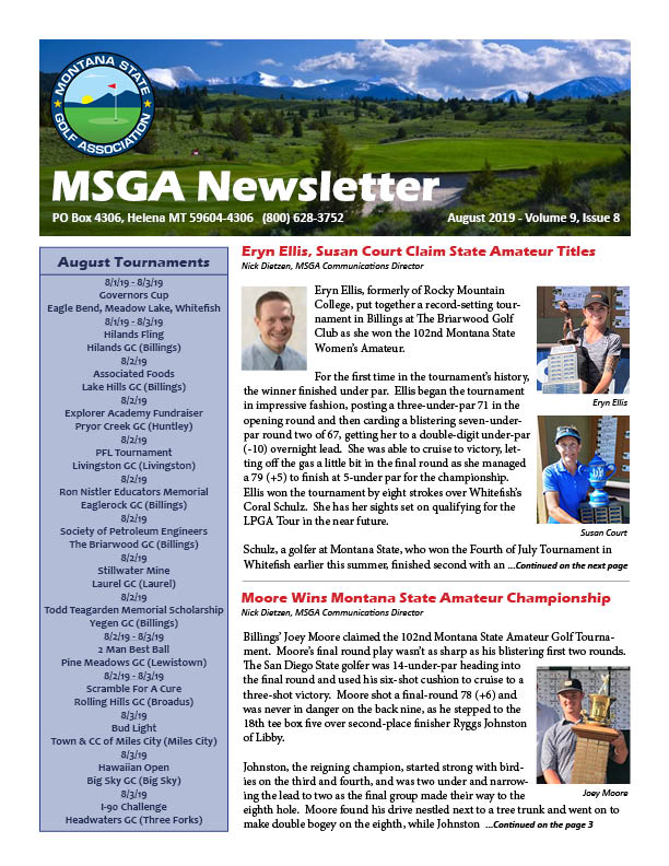 Montana State Golf Association – Dedicated to Serving the Game of
